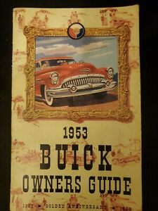 Vintage 1953 Buick Owner S Manual Authentic Owners Guide