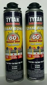 2 X Pack Of Tytan Professional 60 Pro Second Foam Bond High Yield Adhesive New