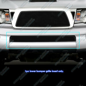 For 2005 2011 Toyota Tacoma Bumper Black Stainless Steel Mesh Grille Insert
