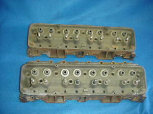 Pair 62 Corvette Chevy 327 Sbc Double Hump 3782461 461x Cylinder Heads K 17 1