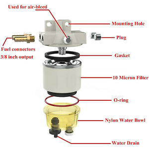 R12t Water Separator For Marine Spin on 120at Diesel Fuel Filter