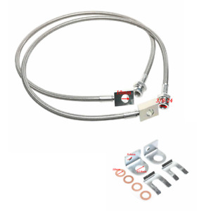 For Jeep Tj Yj Xj Long Stainless Steel Front Extended Brake Line Kit
