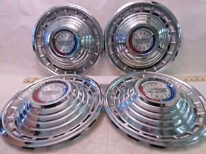 Set Of 4 Vintage 1960 s 70 s Ford Mustang Galaxie Ltd Hubcaps Wheel Covers R12