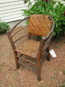 Antique A Nice Arts Crafts Old Hickory Child Arm Chair W5563 Stickley Era