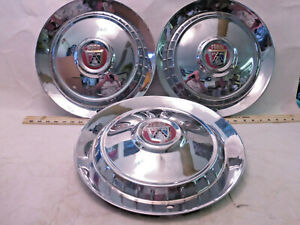 Set Of 3 Ford 1950 s To 1960 s Galaxie Thunderbird Fairlane Hubcaps R1