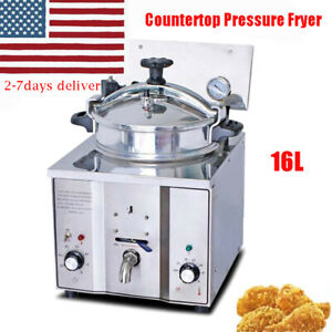 Commercial Electric Countertop Chicken Pressure Fryer 16l Cooking Machine Frying