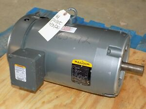 New Old Stock 10hp Baldor Industrial Motor 37a13z50 208 230 460v 215c 1725rpm