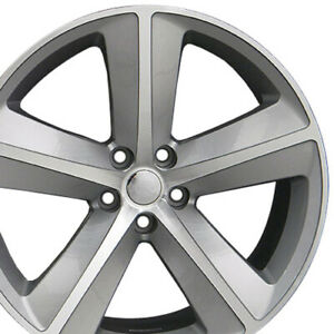 20 Inch Aluminum Wheel For 2006 2020 Dodge Charger 5 Lug 115mm Silver Mach d