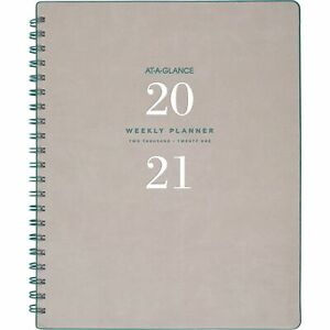 At a glance Signature Collection Weekly monthly Planner Gray yp90508