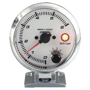 95 Mm 3 3 4 Inches Tachometer Gauge 0 6000 Rpm With Shift Light For Diesel