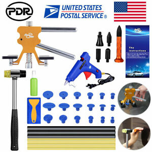 Car Paintless Dent Repair Dent Lifter Pdr Tools Tap Hammer Hail Removal Glue Kit