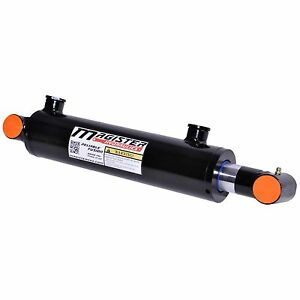 Hydraulic Cylinder Welded Double Acting 2 5 Bore 8 Stroke Cross Tube 2 5x8 New