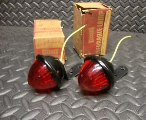 2 Lot Nos Vintage Yankee 86 Clearance Red Marker Lamp Tail Light Lens