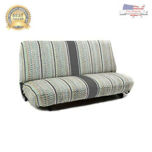 New Saddle Blanket Truck Bench Seat Cover Fits Chevrolet Dodge Ford Trucks Gray