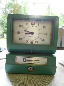 Acroprint Time Card Punch Clock Tme Clock 125nr4 Works Nice Find Used
