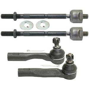 Front Suspension Steering Inner Outer Tie Rod End Kit Set 4pc For Is300 New