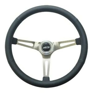 Gt Performance Steering Wheel Retro Leather Stainless Spokes 36 5445