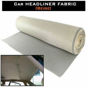 108 Beige Re Upholstery Car Rv Suede Headliner Fabric Roof Liner Restoration