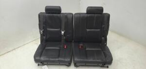 2010 Chevrolet Suburban 3rd Row Seat Black Leather Split Bench Oem