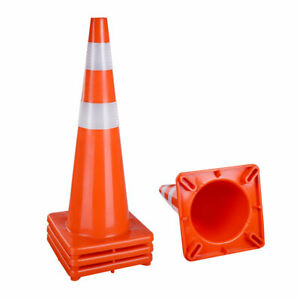 36 Safety Traffic Cones Reflective Collar Strip Sports Training Cone 4 Pcs