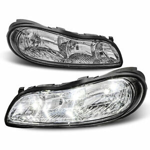 Clear Corner Lamps For 97 03 Chevy Malibu 04 05 Classic Replacement Headlights