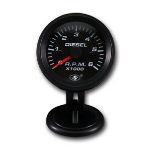 52 Mm Tachometer Electrical Gauge For Diesel Engine 6000 Rpm On Dash