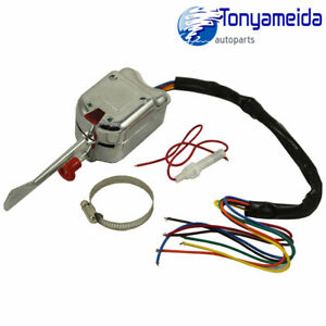 Universal Street Rat Hot Rod Chrome Turn Signal Switch For Buick Ford Gm 12v