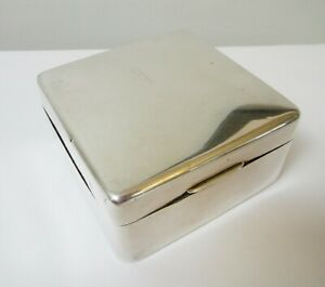 Antique Sterling Silver Cigarette Jewelry Box Adie Brothers 1925