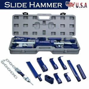 Slide Hammer Dent Puller 13 18pc Set Auto Body Dent Repair Bearing Axel Remover