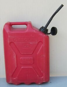 Vintage Blitz by Skotch 5 Gallon Jerry Can Plastic Gas Can W Old School Vent