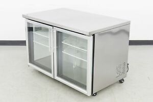 Used True Tuc 48g 2 Glass Swing Door Undercounter Refrigerator 576776