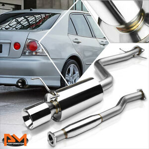 For 01 05 Is300 Altezza Xe10 2jz 4 Rolled Tip Muffler S S Catback Exhaust System