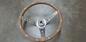 Vintage The 500 Superior Performance Products Wood Steering Wheel Free Shippi