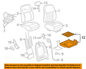 Ford Oem 05 14 Mustang Front Seat seat Cushion Frame Left Ar3z6363101b