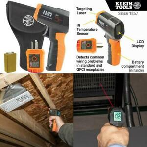 Infrared Thermometer With Gfci Receptacle Tester