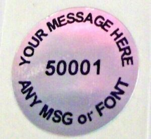 100 To 1000 Gr20 Round Custom Printed Hologram Label Stickers