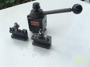 Aloris Bxa Wedge Tool Post For Lathe With 2 Holders