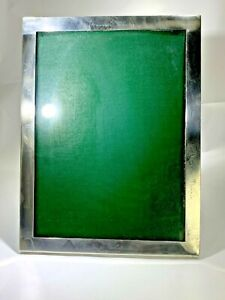 Art Deco Large Sterling Silver Elegant Photo Frame 8 X 10 With Names