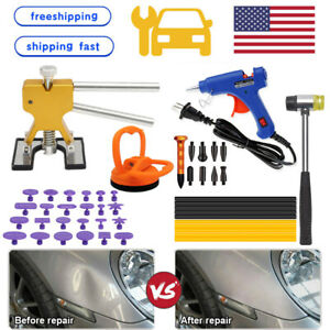 Us Car Body Dent Repair Puller Auto Kit Paintless Dent Hail Damage Remover Tool