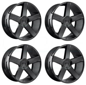 28x10 Dub S216 Baller 5x139 7 25 Gloss Black Wheels Rims Set 4