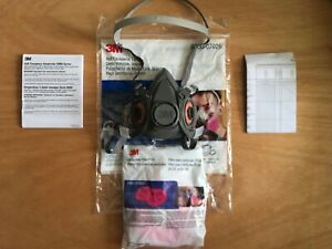 3m 6300 07026 Large Half Face Respirator With 2091 Filters New In Bag