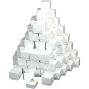 100 White Ring Display Jewelry Boxes Gift Showcases
