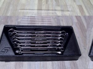 Snap On Oexm707b 7pc 12 Point Metric Flank Drive Long Combination Wrench Set