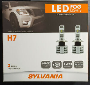 Sylvania H7 Zevo Fog Led Fog Lights Bright White Led Light Output 2 Bulbs Nib