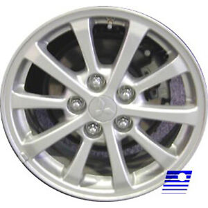 Wheel For 2010 2013 Mitsubishi Lancer 16x6 5 Silver Refinished 16 Inch Rim