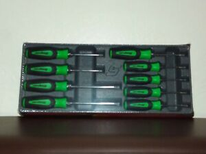 Snap On Tools 9 Pc Soft Grip Torx Screwdriver Set Green New Sealed Sgdtx90bg