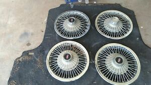 Oldsmobile Hubcaps 14 Wire Wheel Type Chevrolet Pontiac Buick Hot Rod