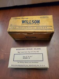 Vintage Lot Of 6 Wilson weld 2 X 4 1 4 Filter Plates Shade 12 Box