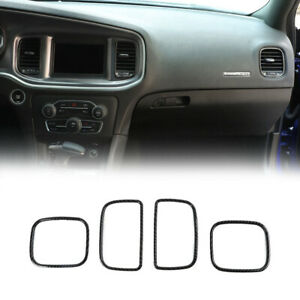4x Center Console Air Conditioning Vent Outlet Ring Trim For Dodge Charger 2011