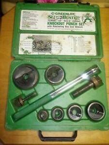 Greenlee 7238sb Knockout Punch Set With Wrench Driver For 1 2 2 Conduit